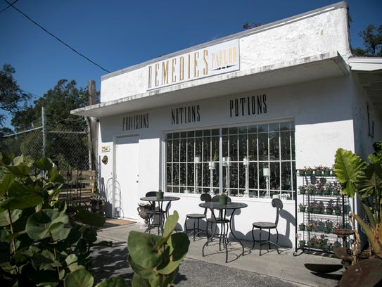Remedies Parlor shop in downtown Fort Myers has an
