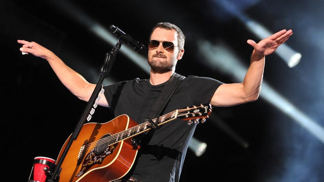 "Eric Church performs at the 2015 CMA Music Festival Sunday, June 14, 2015, in Nashville, Tenn. Church is set to perform at Wells Fargo Arena in Des Moines on Jan. 19 as part of the ""Holdin' My Own"" tour."