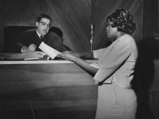 Alberta Jones before temporary judge Bobby Haddad