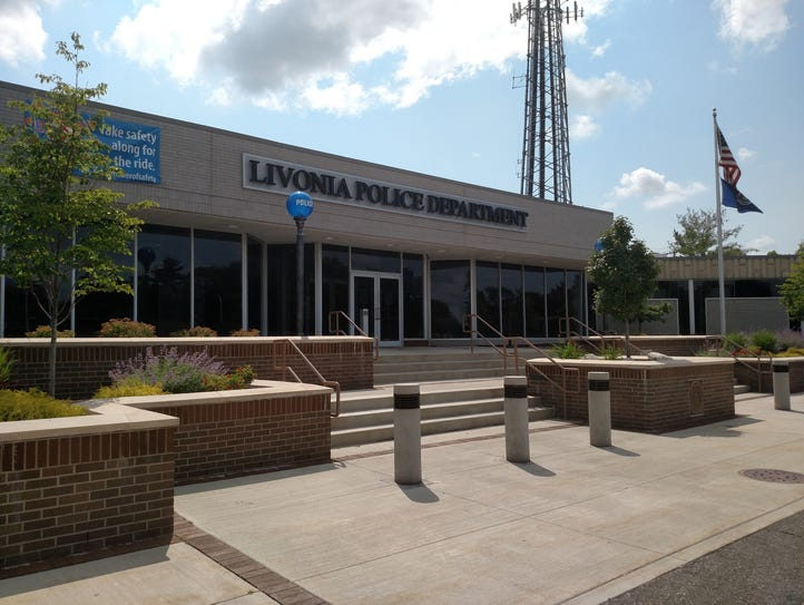 The Livonia police station.