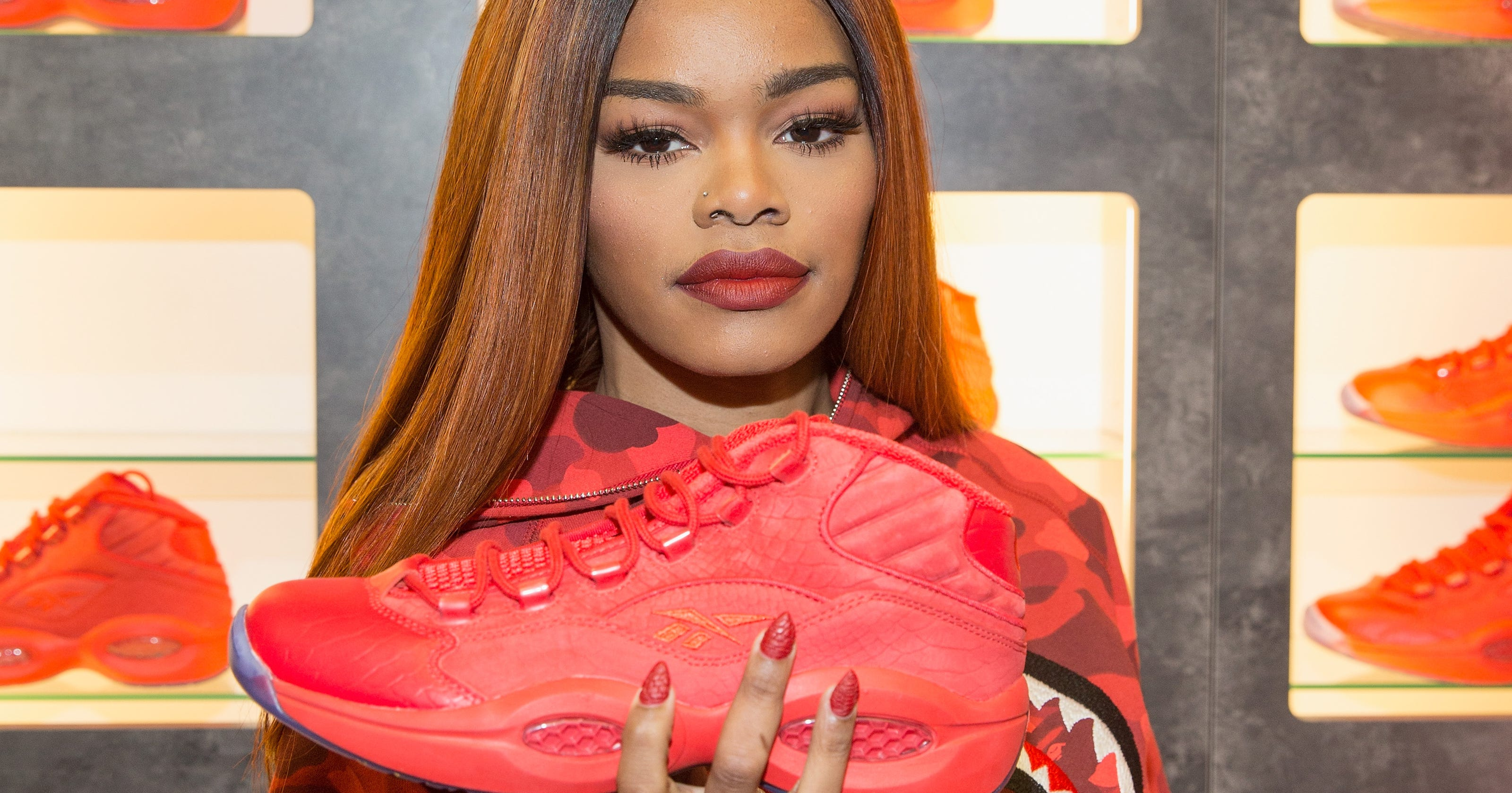 c3163d3c3e8 There s still a chance to buy Teyana Taylor s Reebok Question Mid sneakers