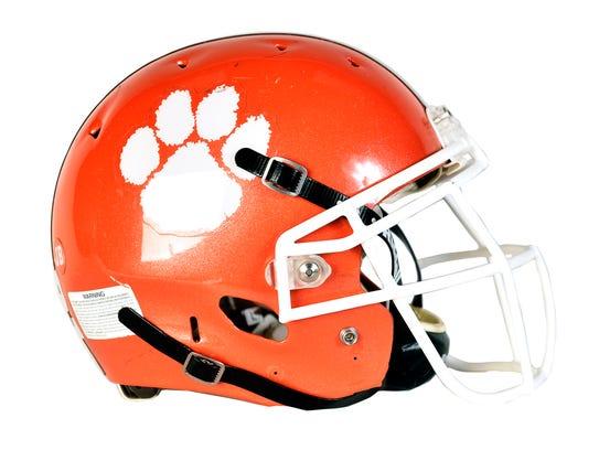 Central York Panthers football helmet.