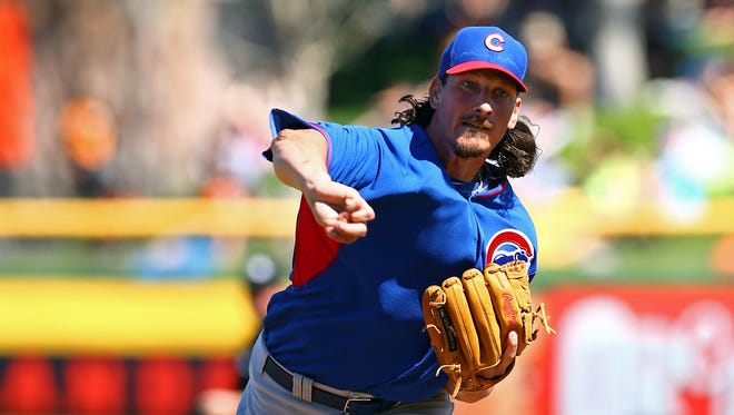 """You need to go by your heart and what you love the most,"" Cubs pitcher Jeff Samardzija, who was a wide receiver at Notre Dame, says of choosing Major League Baseball over the NFL."