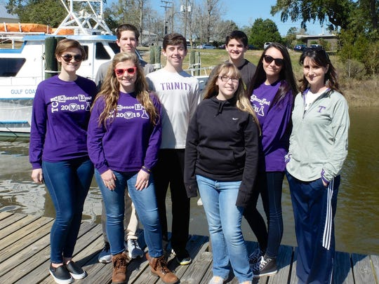 Students from Trinity Christian Academy showed off