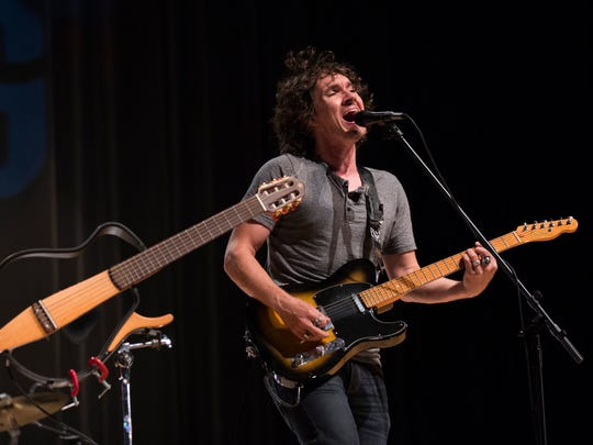 The indie rock band Gooding performs songs about financial literacy for students from Corkscrew Middle School on Tuesday, Oct. 18, 2016, at Palmetto Ridge High in Golden Gate Estates. The songs related past experiences to the importance of planning for the future.