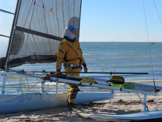 Hall of fame sailor Randy Smyth stands by his trimaran