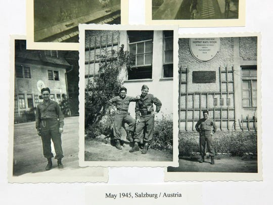 D-Day 70th anniversary story: Photos from May 1945 in Salzburg, Austria of United States Army private first class (PFC) Donald Matina,89, who was at D-Day, at his home in Webster, N.Y. on Tuesday June 3 2014.