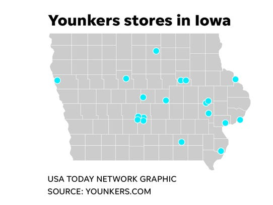 There are 17 Younkers stores in Iowa that will close