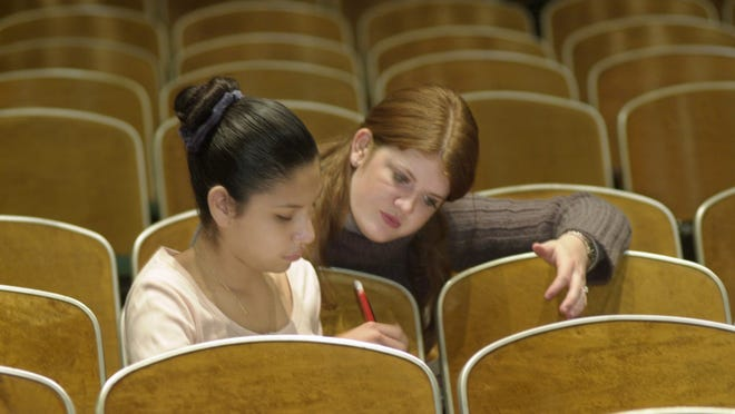 A student receives counseling.