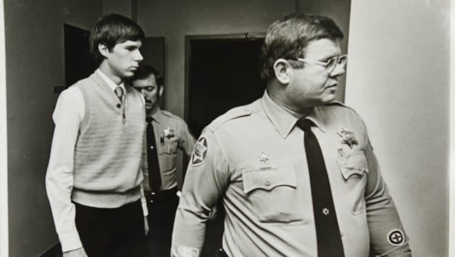 Kevin Scott Roscoe after being found guilty of kidnapping and murder in 1983, in 7-year-old Laura Dunn's high-profile murder.