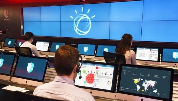 Security analysts at IBM X-Force Command Center are