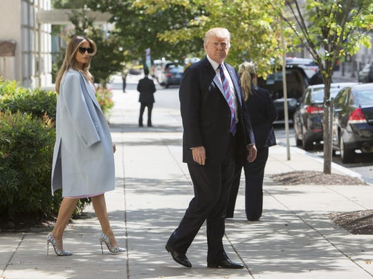 President Trump Attends Church Service On National Day Of Prayer