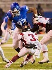 New MTSU signee Malik Manciel (93) will play defensive tackle for the Blue Raiders.