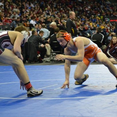 Weston Cracraft, right, of Mishicot secured his first podium finish in four trips to State.