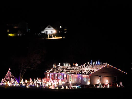 Deck the halls - and the yard, the roof and the driveway - for one home at 332 E. Evergreen Road in South Lebanon tis holiday season.