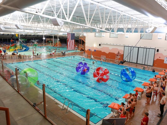 Water roller balls will be among the attractions Saturday at the Washington City Community Center's Pioneer Day Pool Party.