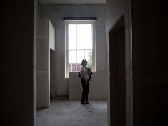 A room in the old Knox High building on the corner