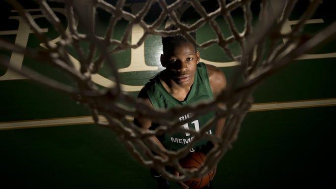 Rice Memorial High School's Ben Shungu, the Burlington Free Press high school basketball player of the year.