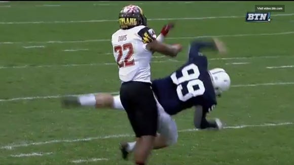 Maryland's Isaiah Davis was ejected for this cheap