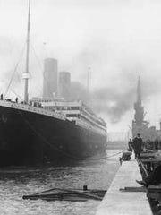 Titanic at dock in Southampton, England, Berth 44.