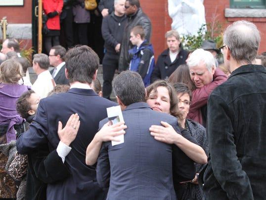 Train victim funeral
