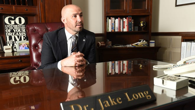 Dr. Jake Long, Mountain Home School district's new superintendent, talks about his vision for the district during an interview with the Baxter Bulletin on Thursday, July 9, 2015. Long said he hopes to increase parental involvement in all aspects of education.