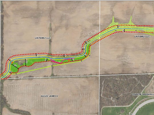 Greenville, Supervisor Mike Woods and Robert J. Immel Excavating were ordered to restore an illegally dredged stream on farmland west of State 76 and north of State 96.