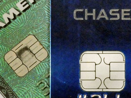 Banks are in the process of switching to new credit cards fitted with security chips that encrypt the card-holder's information, as opposed to the magnetic strips that transmit the information the traditional way. At the same time, merchants are slowly entering the new card readers the new cards work with into their businesses.