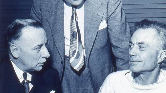 Billy Nesbit (right) escaped from prison in 1946 and was apprehended four years later in St. Paul. He still managed an early release in 1954 at age 55 after spending only 14 years behind bars.