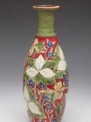 Ceramic vase by Thor Thoreson of Gills Rock Stoneware,