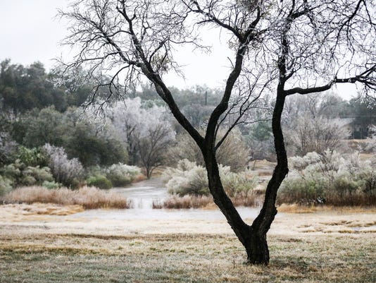 Scenes from a freezing morning in San Angelo