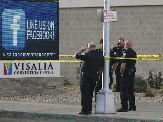 Visalia police are investigating a fatal collision near the Visalia Convention Center.