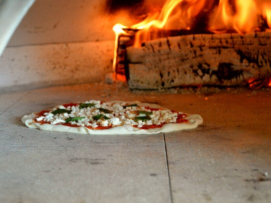 DaNizza Wood Fire's oven operates around 800 to 1000
