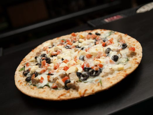 Mediterranean pizza is pictured at Fong's Pizza.