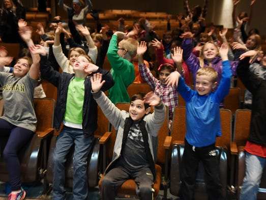 A group of Northville's Thornton Creek Elementary students