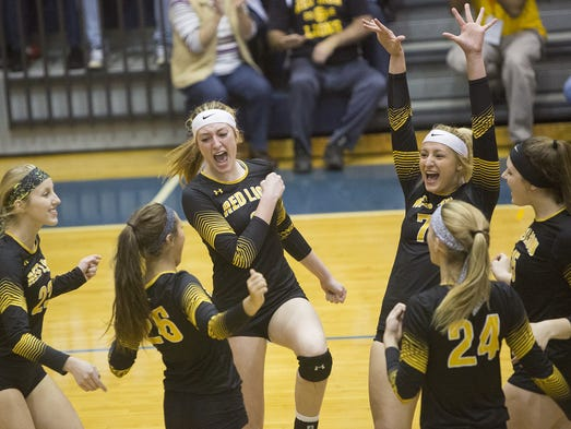 Red Lion celebrates after winning a point. Red Lion