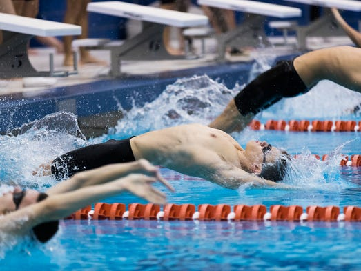 York Suburban's Karl Schmittle launches off the blocks