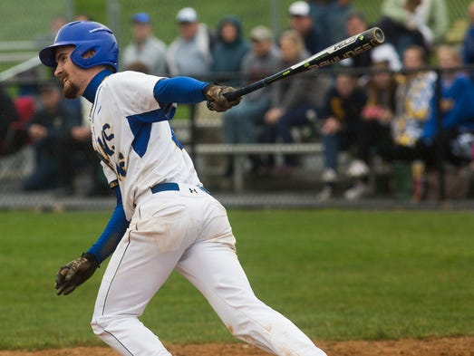 Kennard-Dale's Ben Lowe delivers the game-winning hit