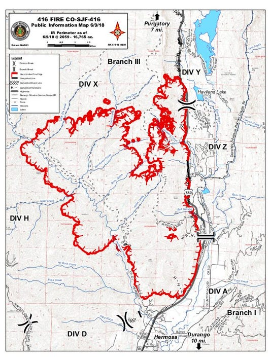 Fires Colorado Map.416 Fire Update Purgatory Area Evacuates Doubles In Size