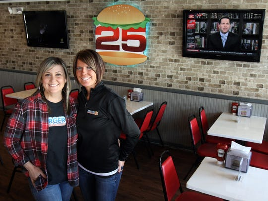 Christine Kedves (left) and Denise Vetter are the owners of Burger 25 in Toms River.