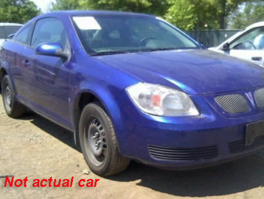 An example of a Pontiac G5, which is the type of vehicle