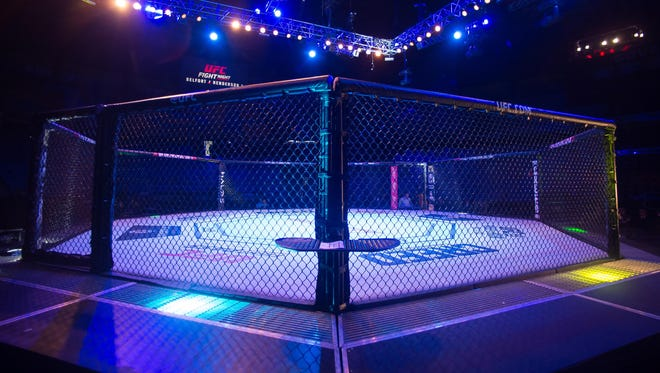The Octagon for the Ultimate Fighting Championship.