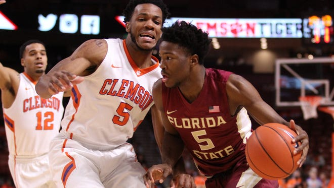 Malik Beasley led FSU in scoring with 23 points in the loss to Clemson.