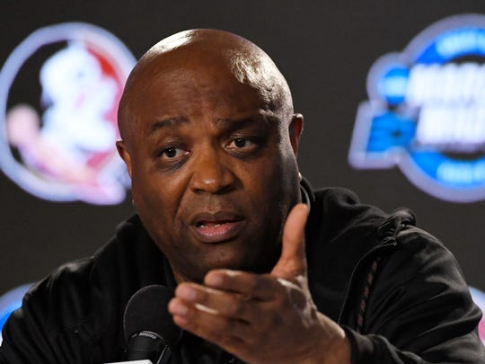 Florida State head coach Leonard Hamilton speaks during