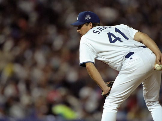 National League pitcher Jeff Shaw represents the Los