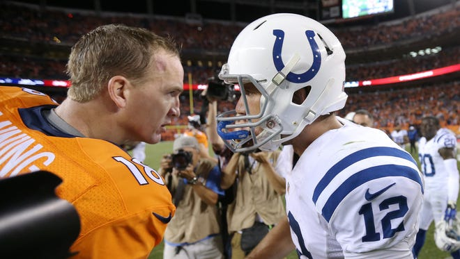 Denver Broncos Peyton Manning will face Indianapolis Colts Andrew Luck against this season.