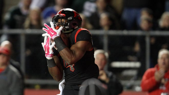 Leonte Carroo has two three-touchdown games for Rutgers this season and four in his career.