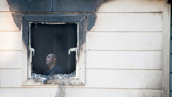 Montgomery Fire Investigators look into the cause of