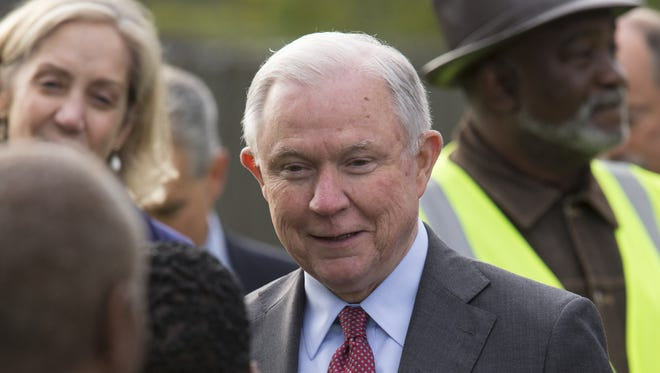 U.S. Attorney General Jeff Sessions attends a meeting in Indianapolis on Nov. 6, 2017.