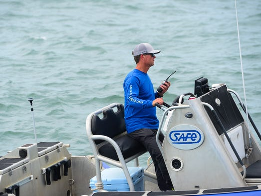 OCEARCH founder Chris Fischer is aboard the SAFE boat
